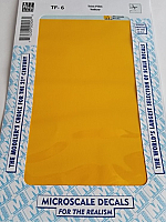 Microscale TF-6 - Trim Film - Yellow 116MS  4½ in x 7½ inch sheet - Waterslide Decal