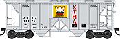 Bowser HO 42250 70-Ton 2-Bay Coverde Hopper with Open Sides -  XTRA Western Pacesetter XTRX 78205