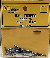 Micro Engineering HO Scale 26070 Rail Joiners Code 70 - 50 pcs