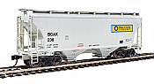 Walthers 7527 HO Scale - 39Ft Trinity 3281 2-Bay Covered Hopper - Blue Circle Cement BCAX #238