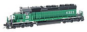 Intermountain Railway 49355S-01 HO Diesel EMD SD40-2 DCC & Sound  Burlington Northern BN #7837