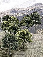 "Woodland Scenics 1572 HO Ready Made Realistic Trees Value Pack - Mixed Green 3 - 5"" 7.5 -12.5cm Tall pkg(14)"
