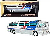 Iconic Replicas 870257- 1:87 Buses 1970 MCI MC-7 Gray Line Sightseeing