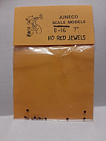 Juneco Scale Models B-16 - HO 7in Red Jewels (12/pkg)