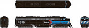 Rapido 28599 HO - EMD E8A (DC/DCC/Sound) Amtrak - Early Black Scheme: #4316