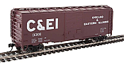 Walthers Mainline 2253 - HO 40ft ACF Welded Boxcar w/8ft Youngstown Door - Chicago & Eastern Illinois #3329