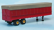 Sylvan Scale Models 003 HO Scale - 34Ft Fruehauf Dura Van w/ Canvas Top - Unpainted and Resin Cast Kit