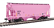 Walthers 7537 HO Scale - 39Ft Trinity 3281 2-Bay Covered Hopper - Halliburton HWCX #7990