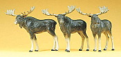 Preiser 20393 HO Scale - Mooses 3pc.