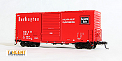 Tangent Scale Models HO 18015-04 - PS-1 40ft Mini-Hy Cube Box Car - CB&Q - Chinese Red 11-67 #19869
