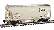 Walthers 7534 HO Scale - 39Ft Trinity 3281 2-Bay Covered Hopper - CSX Transportation CSXT #242738