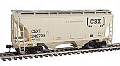 Walthers 7534 HO Scale - 39Ft Trinity 3281 2-Bay Covered Hopper - CSX Transportation CSXT #242738