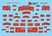 Microscale Decals 4371 HO - Canadian Flags (1870 - 1965)