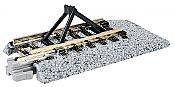 Kato Unitrack 20-048 - N Scale Straight Roadbed Bumper Track - Style C (2pcs)