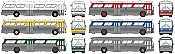 Rapido 701000 New Look Bus, Undecorated Kit