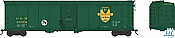 Bowser HO 50Ft 2 Door Boxcar Delaware and Hudson No.24589