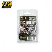 AK Interactive 91 Interior Weathering Set - Enamel & Acrylic Paint Set (92, 93, 94,)