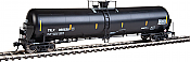 WalthersProto 100726 HO Scale 55 Trinity Modified 30,145-Gallon Tank Car - Ready to Run Trinity Industries Leasing #350530 (black, White Lettering, Yellow Conspicuity) 920-100726