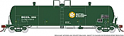 Rapido 135012-D HO Scale - Procor GP20 20K Gal Tank Car: BC Rail Small Logo - Company Service - Single Car #1970