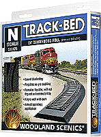 Woodland Scenics 1475 N Scale Track-Bed Roadbed Material 24' 720cm Continuous Roll