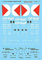 Microscale Decal 87706 HO Scale - CP Freight - Cylindrical Covered Hoppers - 4-Bay - CP Rail - Waterslide Decal