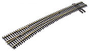 Peco Code 83 SL E 8377 HO Streamline #7 Electrofrog Turnout - Nickel Silver Left Hand Curved Track