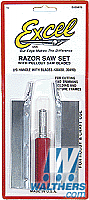 Excel Hobby Razor Saw Set Handle with 2 blades, Carded