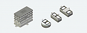 ESU 50340 - Modular Speaker Baffle Set for Twin Sugar Cube Speakers