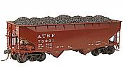 Kadee 7524 - HO 50 Ton AAR (Standard) 2 Bay Open Hopper - Santa Fe #78231