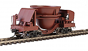 Walthers Proto 107911 HO Scale - Slag Car - Rust with Decal Numbers (Undecorated/Unlettered) - pkg(2)