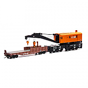 Athearn RTR 75418 - HO 200-Ton Crane w/Tender - Norfolk Southern/Orange #92545