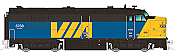 Rapido Trains True North Diesel FPA-4 - DCC & Sound VIA/CN (Blue) Pre Order