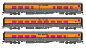 Rapido 131202 HO Scale - RTR Denver and Rio Grande Ski Train - Set #2