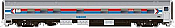 Rapido 119031 HO Scale - Budd Manor Sleeper - Amtrak Phase 1, Silver Iris #2153