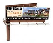 BLMA Models 4320 HO Modern Dual-Sided Billboard