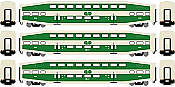 Athearn RTR 25429 N Scale - Bombardier Coach - GO Transit (3 pack) #2