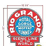 Stoddarts Ltd. RG - 3D Railroad Wall Artwork - Rio Grande - Moffat Tunnel - Logo