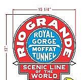 Stoddarts Ltd. RG - 3D Railroad Wall Artwork - Rio Grande - Moffat Tunnel - Logo