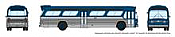 Rapido 573096 N - 1/160 New Look Bus - Generic Blue