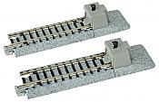 Kato Unitrack 20-046 - N Scale Straight Roadbed Bumper Track - Style A (2pcs)