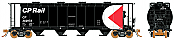 Rapido 127008-2 HO 3800 cu. ft. Canadian Cylindrical Hopper Canadian Pacific (CP) CP Rail w/Large Multimark - 382726