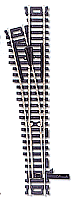 Atlas Model Railroad Custom Line Mark IV Turnout - Nickel-Silver #4 Left, Black Ties