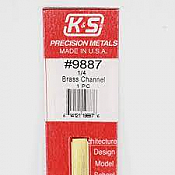 K&S Engineering 9887 All Scale - 12inch Long Brass Channel - 0.014inch Thick x (1/4 x 1/8 inch Leg Lengths)
