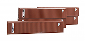 Deluxe Innovations 505461 N Scale 40 Ft Dual Logo Panel Corrugated Container 5-Pack - Tiphook