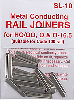 Peco SL10 - Code 100 HO North American-Style Rail Joiners (24/pkg)