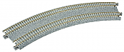 "Kato Unitrack 20-184 N Scale Concrete Tie Super Elevated Double Track Easement Curve Left, Right 315/282mm (12 3/8""/11"")"