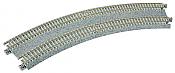 "Kato Unitrack 20-184 N Scale Concrete Tie Super Elevated Double Track Easement Curve Left, Right 315/282mm (12 3/8""/11"")"