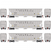Athearn 18773 - HO RTR PS 4740 Covered Hopper,  RBM&N 3 Pack