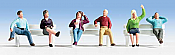 Walthers SceneMaster 6059 HO Seated People - Set #3 - pkg(6)