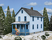 Walther's 3786 HO Cornerstone Two-Story Frame House Kit